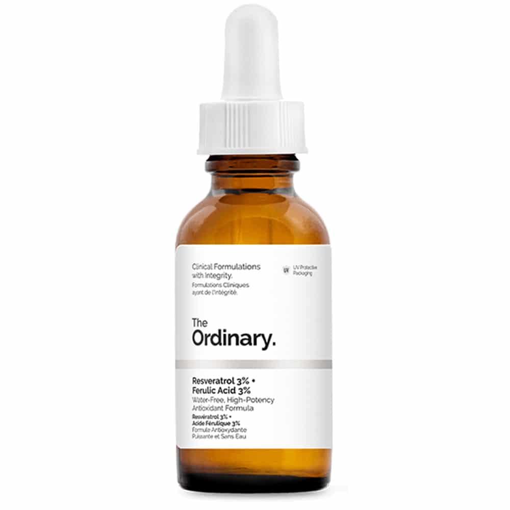 Resveratrol 3% + Ferulic Acid 3% | Sérum antioxidante Natural The Ordinary